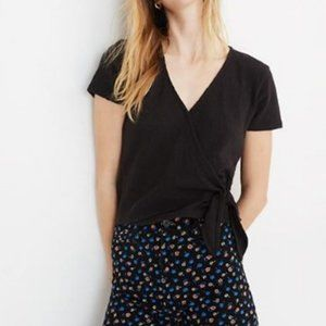 Madewell Texture & Thread Wrap Top J2858 Black